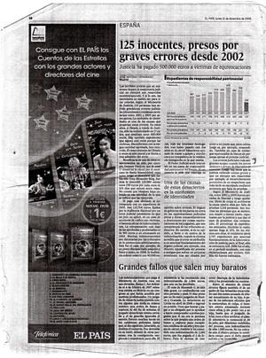 125 inocentes presos